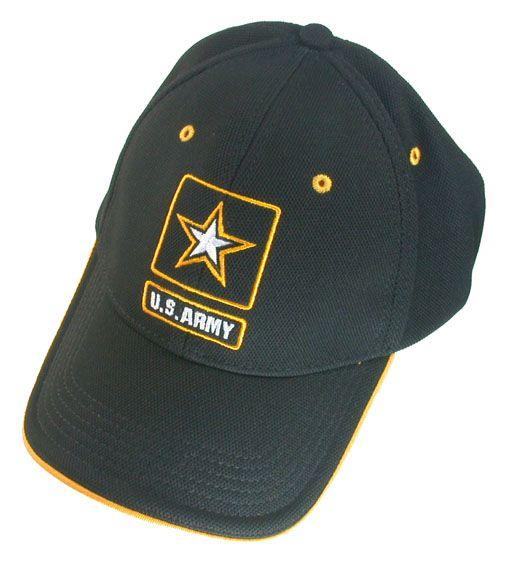 U.S. ARMY キャップ/帽子 ブラック ポケット付