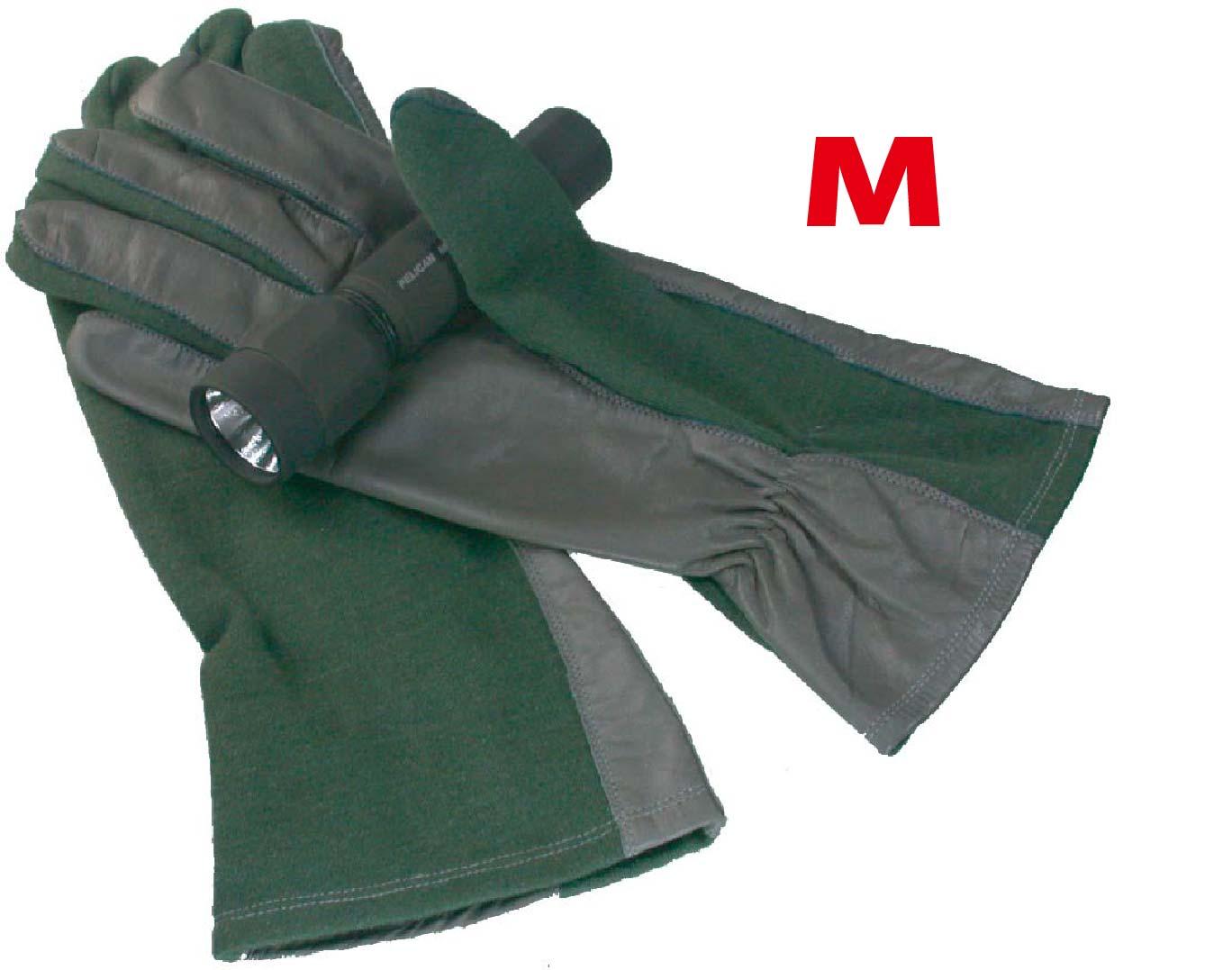 MIL-FORCE ミルフォース ノーメックス/本革 パイロットグラブ  手袋 オリーブ Mサイズ PG-05P-OD-M