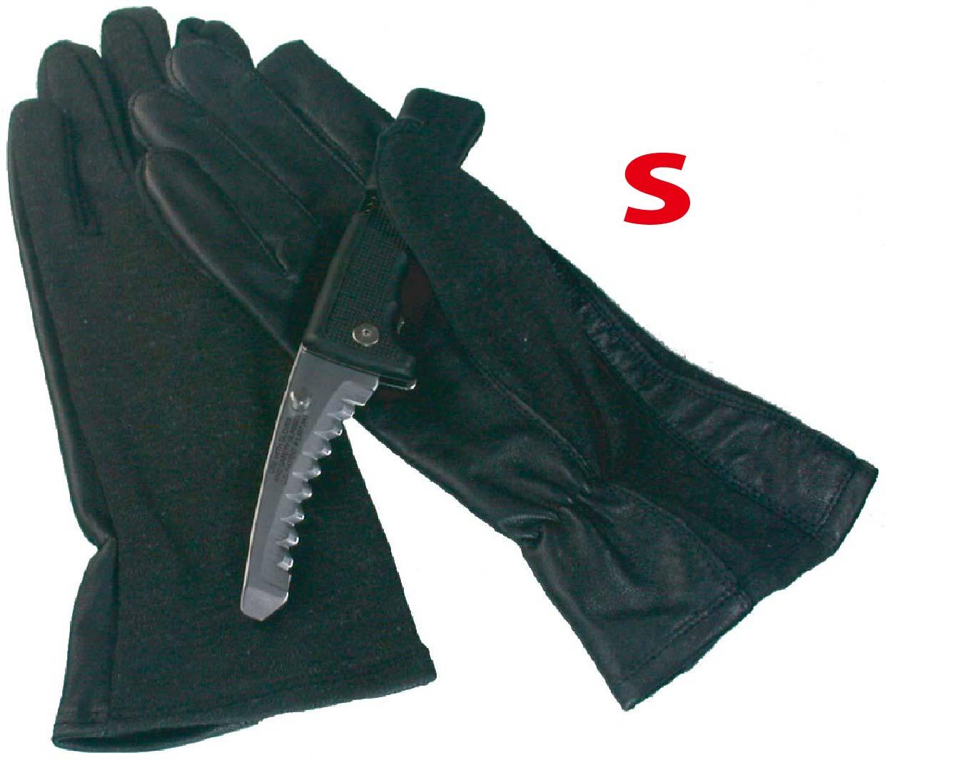 MIL-FORCE ミルフォース ノーメックス/本革 パイロットグラブ  手袋 ブラック Sサイズ PG-05P-BK-S