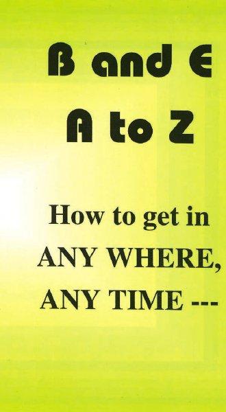 家宅侵入の方法 B&E:A to Z How to get in...