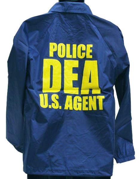 MIL-FORCE ミルフォース ウィンドブレーカー DEA 麻薬取締局 Lサイズ WB-DEA-L