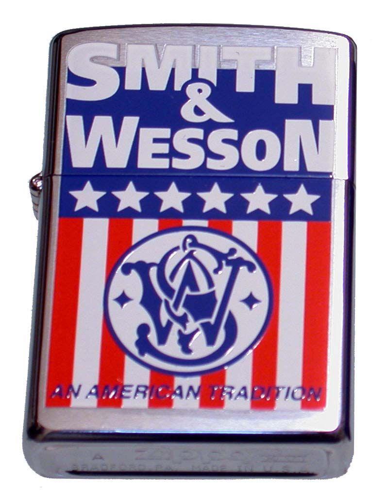 """ZIPPO ジッポー """"Smith & Wessonスミス&ウェッソン(星条旗)""""モデル ライター"""