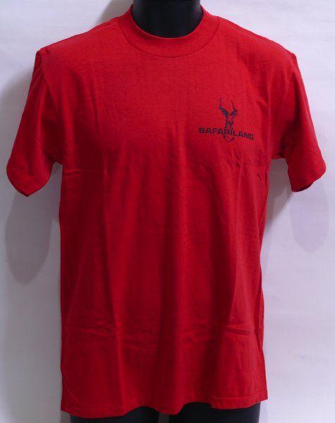SAFARILAND ロゴ入 Tシャツ Mサイズ (赤)