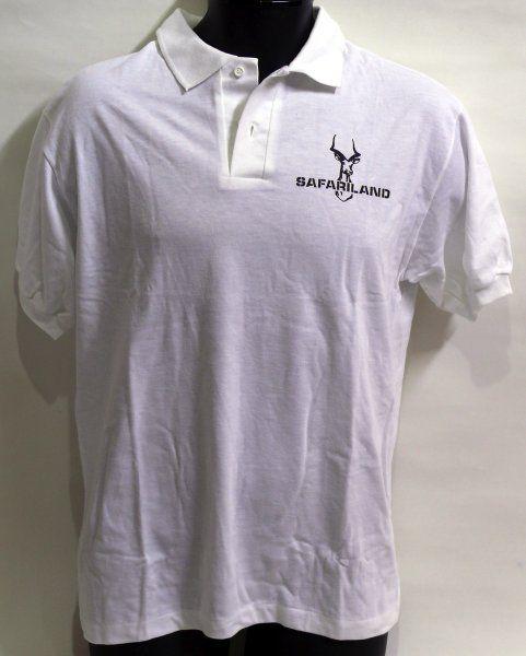 SAFARILAND ロゴ入 ポロシャツ Lサイズ (白)