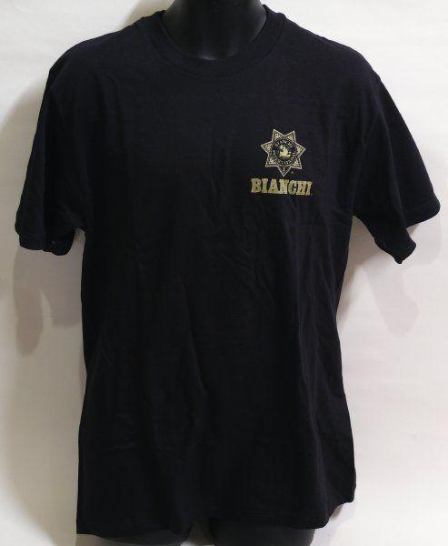 BIANCHI ビアンキ ロゴ入り Tシャツ 黒(Lサイズ)