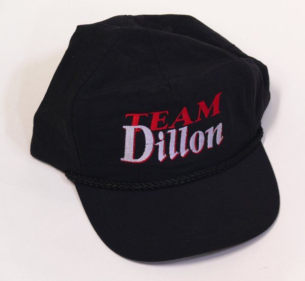 Team Dillonキャップ(黒) 刺繍ロゴキャップ/帽子