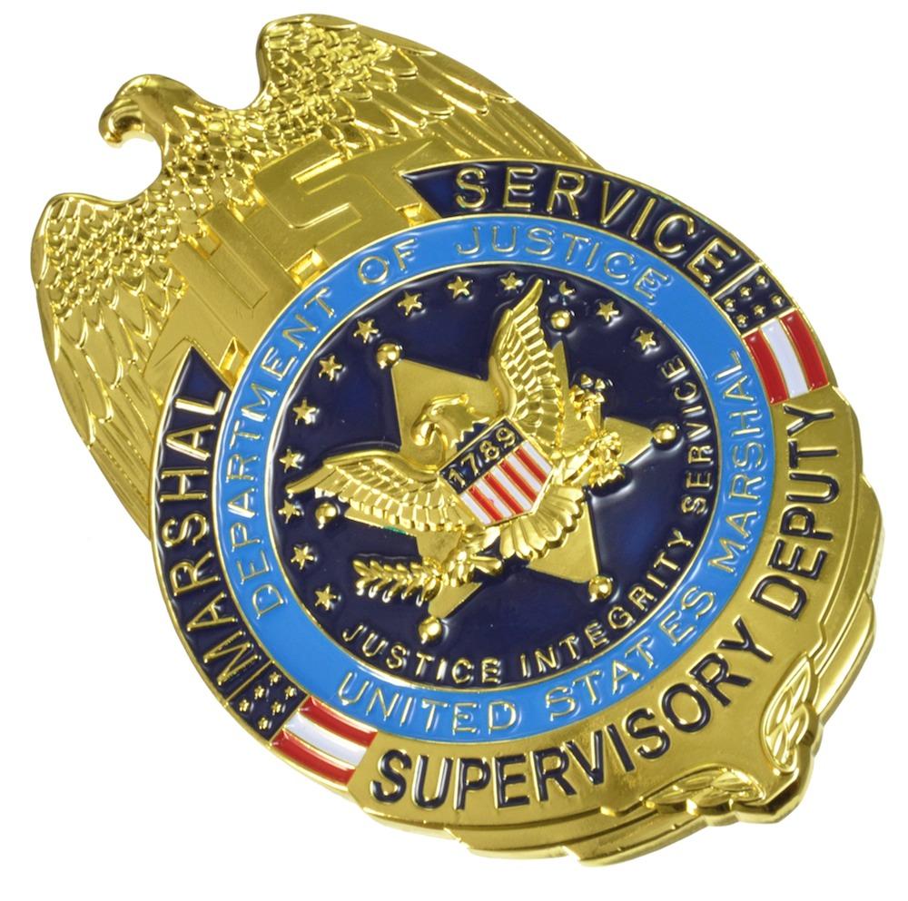 DOJ MARSHAL SERVICE Supervisor Deputy(連邦保安官スーパーバイザー・レプリカバッジ)