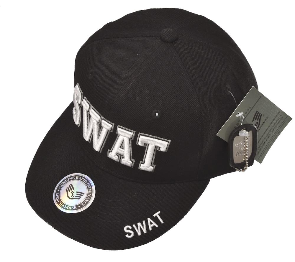 SWATキャップ(ブラック)立体ロゴキャップ/帽子