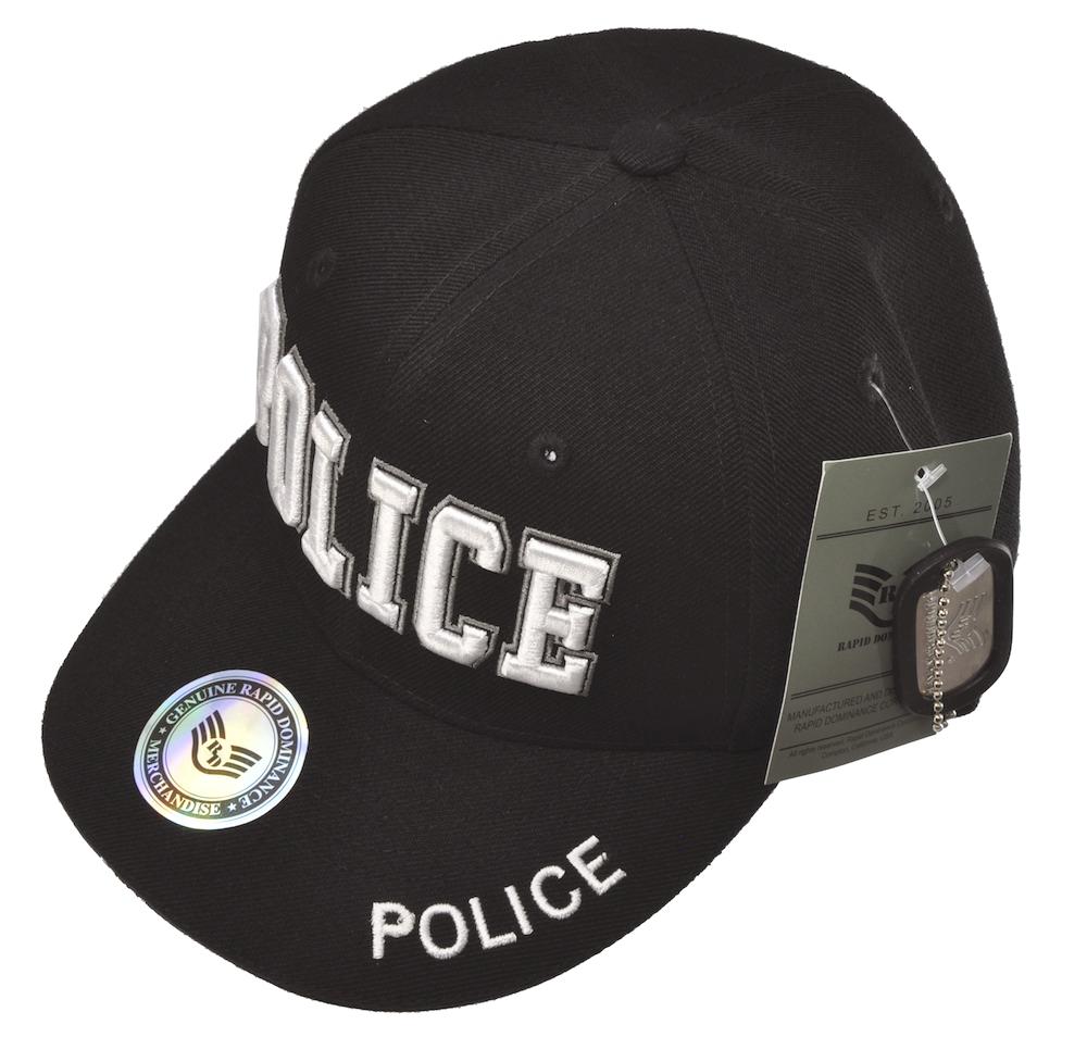 POLICEキャップ(ブラック)立体ロゴキャップ/帽子