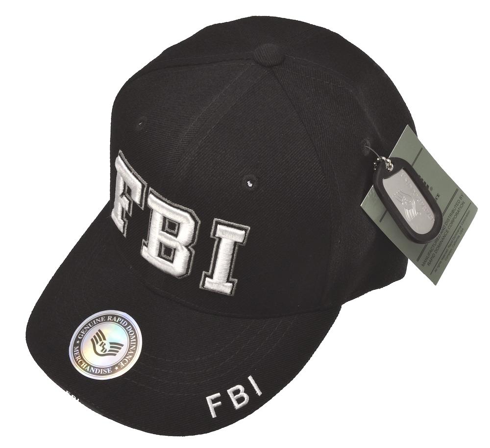 FBIキャップ(ブラック)立体ロゴ キャップ/帽子