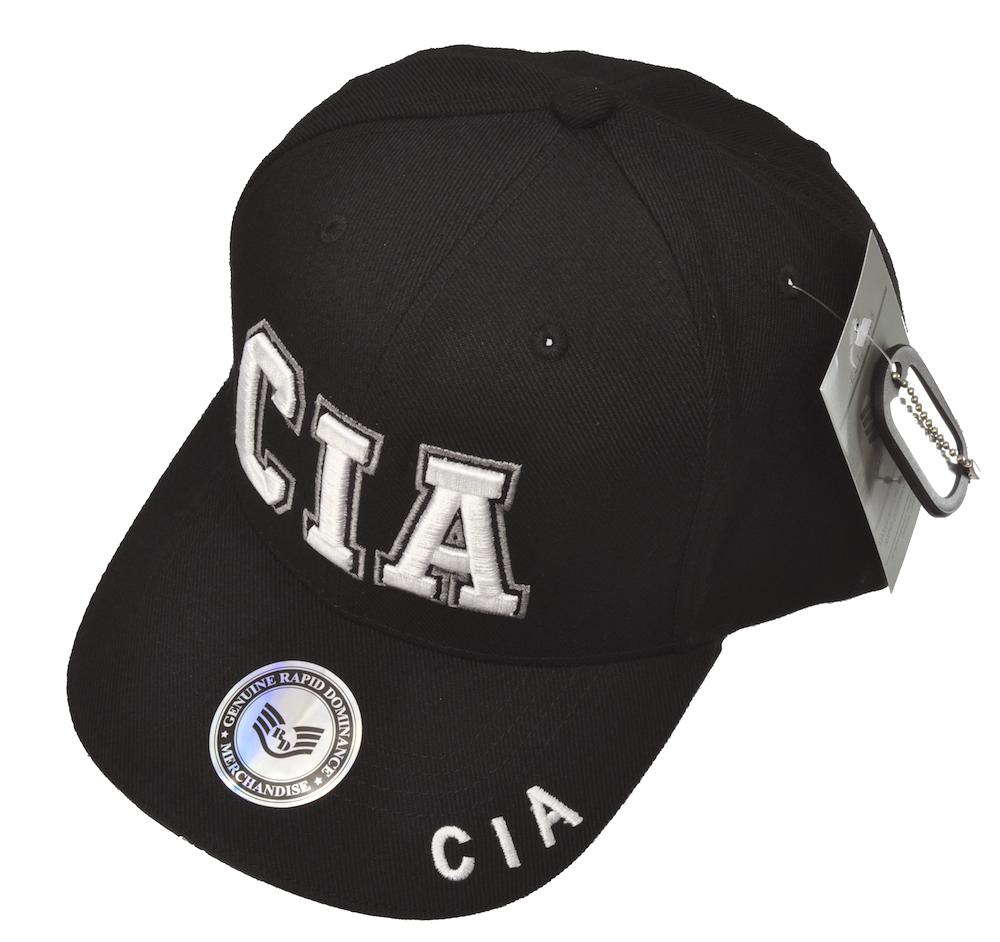 CIAキャップ(ブラック)立体ロゴキャップ/帽子