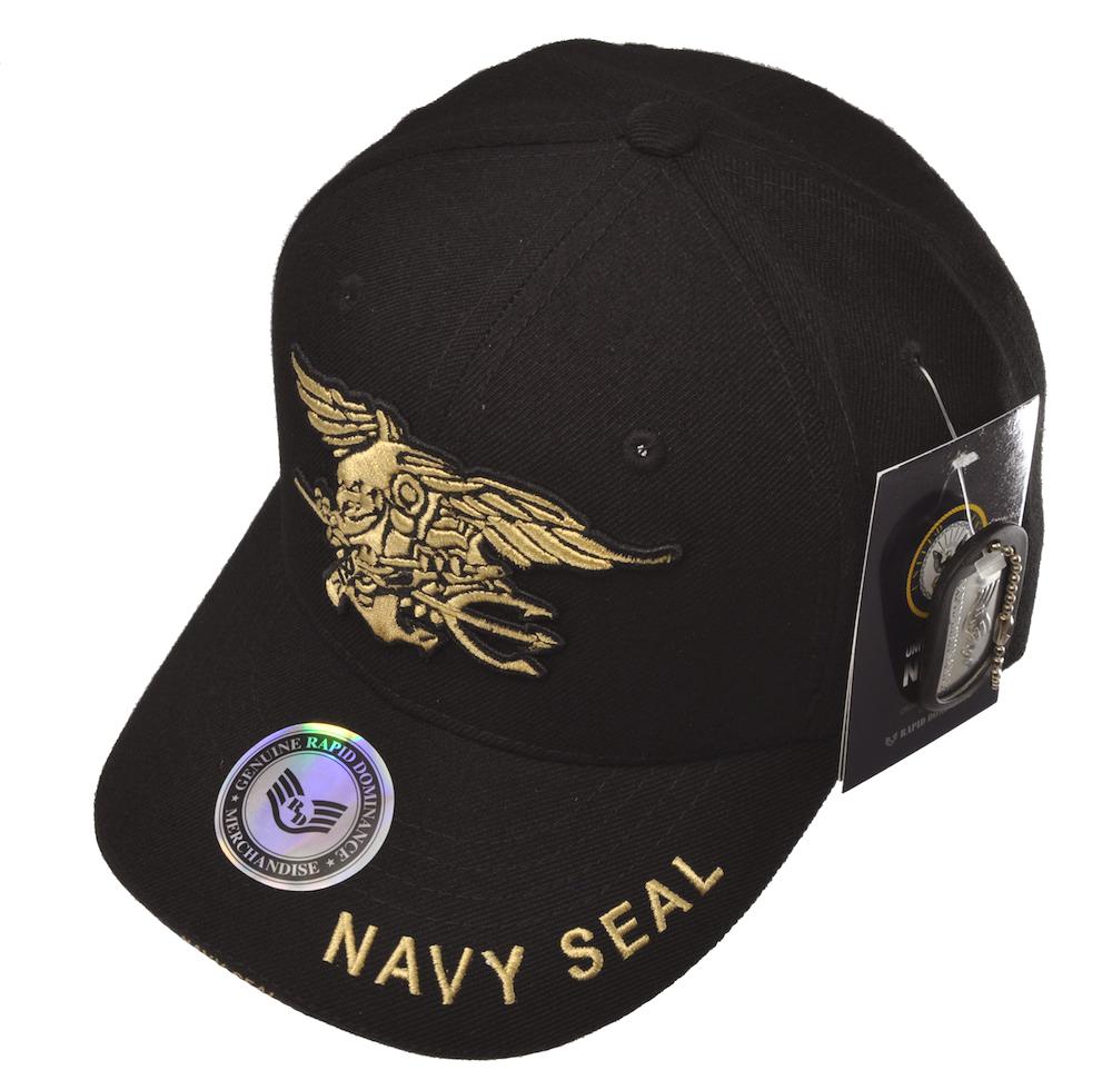 NAVY SEALSキャップ(ブラック)刺繍ロゴキャップ /帽子