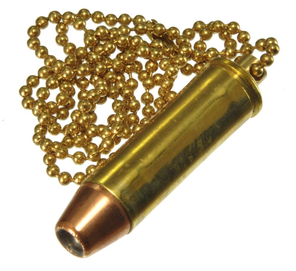 ダミーカート ケース 拳銃弾 454 Casull  実弾 ネックレス形ケース