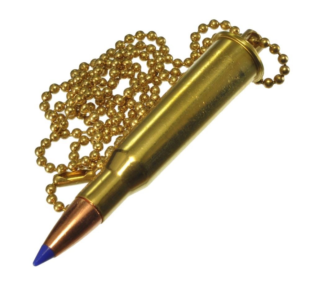ダミーカート ケース ライフル弾 7.62 x 54R 実弾 ネックレス形ケース