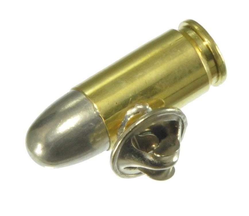 ダミーカート ピンバッジ 9mm Luger 実弾 ピンバッジ