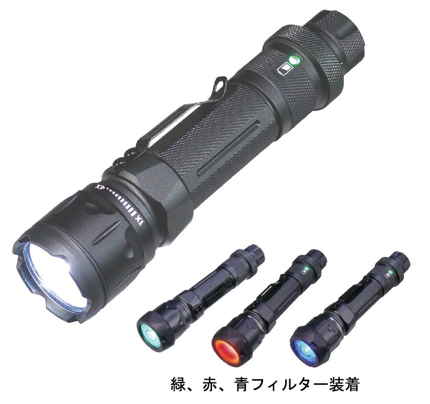 MIL-FORCE ミルフォース POLICEタクティカルLEDフラッシュライト 【CHARIOT】 HT-01