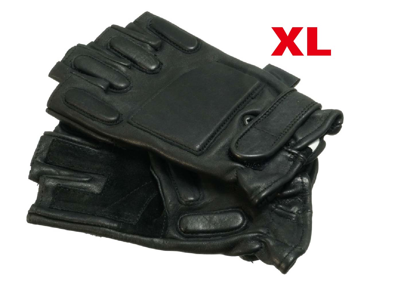 MIL-FORCE ミルフォース SWATレザーグラブ ハーフ(XLサイズ)  PG-01A-XL