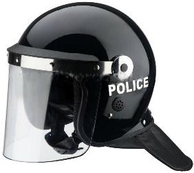 MIL-FORCE ミルフォース POLICEヘルメット バイザー&ネックガード付 LJK-PH