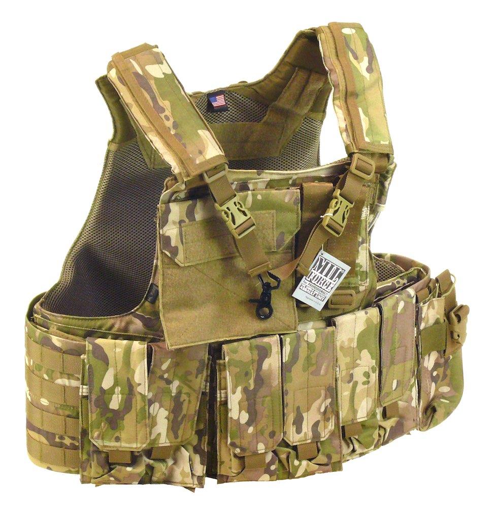 MIL-FORCE ミルフォース エリート タクティカル モールベスト (カモフラージュ) DM-USP-06-CAM