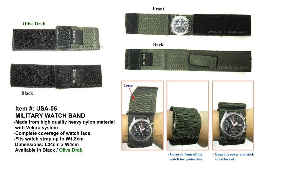 MIL-FORCE ミルフォース コンシールド ウォッチバンド(ブラック) USA-05-BK