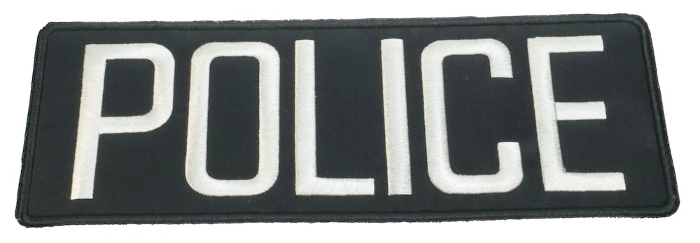 MIL-FORCE ミルフォース POLICE ブラックパッチ MTL-B-POLICE