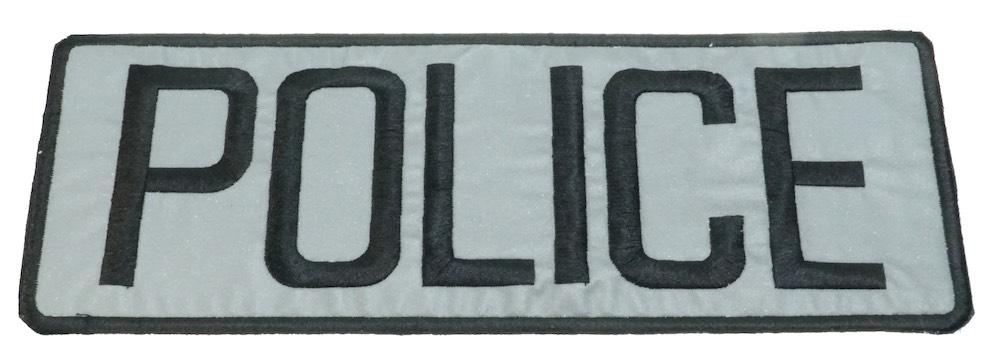 MIL-FORCE ミルフォース POLICE シルバーパッチ MTL-S-POLICE