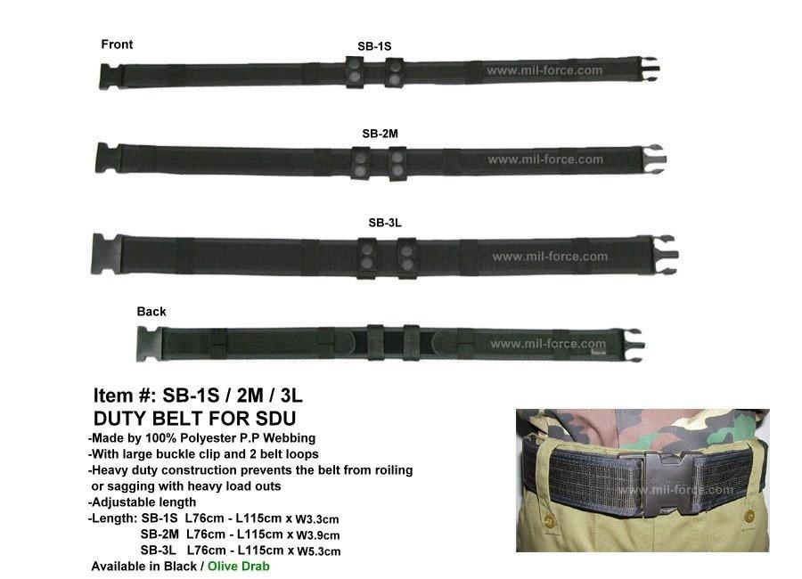 MIL-FORCE ミルフォース ピストルベルト 幅5.5cm ブラック SB-3L-BK