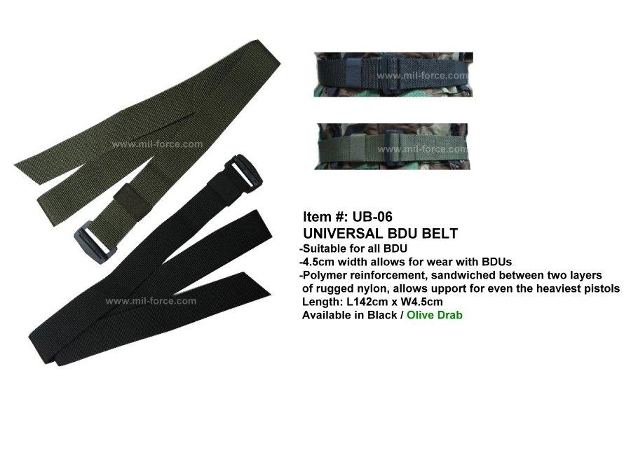 MIL-FORCE ミルフォース BDUベルト(ブラック) UB-06-BK