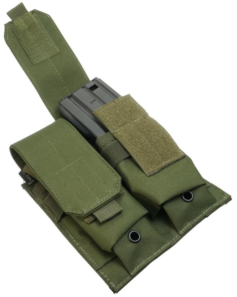 MIL-FORCE ミルフォース M4/M16 ダブル マガジンポーチ(オリーブ) DM-WMP-OD