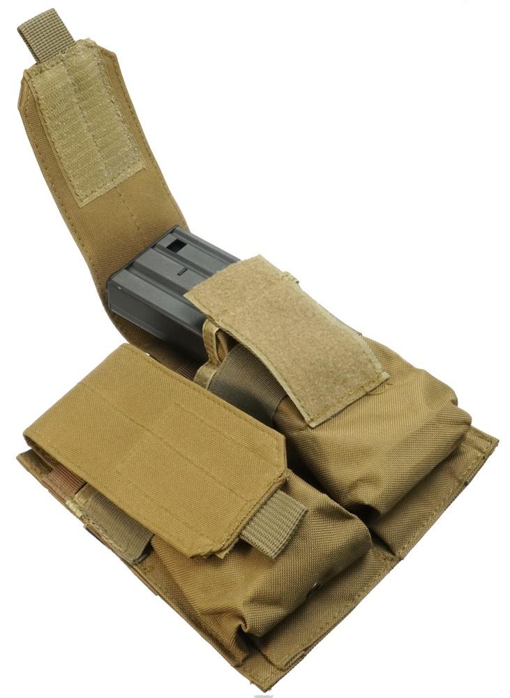 MIL-FORCE ミルフォース M4/M16 ダブル マガジンポーチ(タン) DM-WMP-TAN