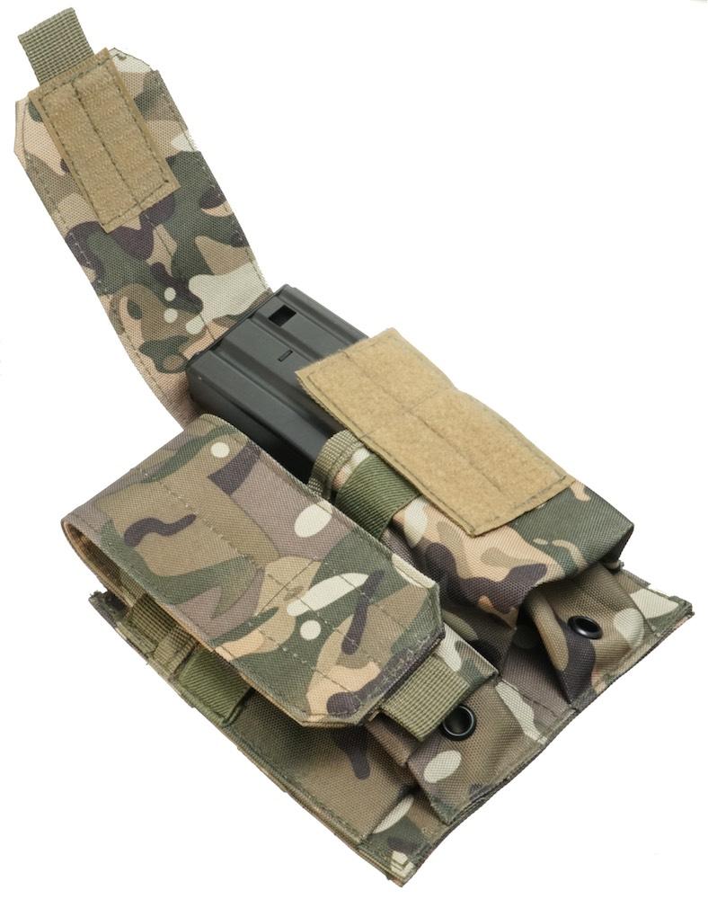 MIL-FORCE ミルフォース M4/M16 ダブル マガジンポーチ(カモフラージュ) DM-WMP-CAM