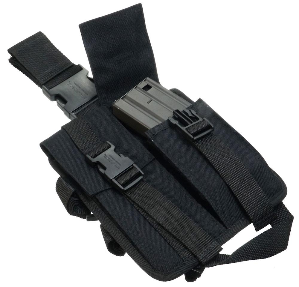 MIL-FORCE ミルフォース レッグマガジンポーチ M16(ブラック) SBL-16-BK