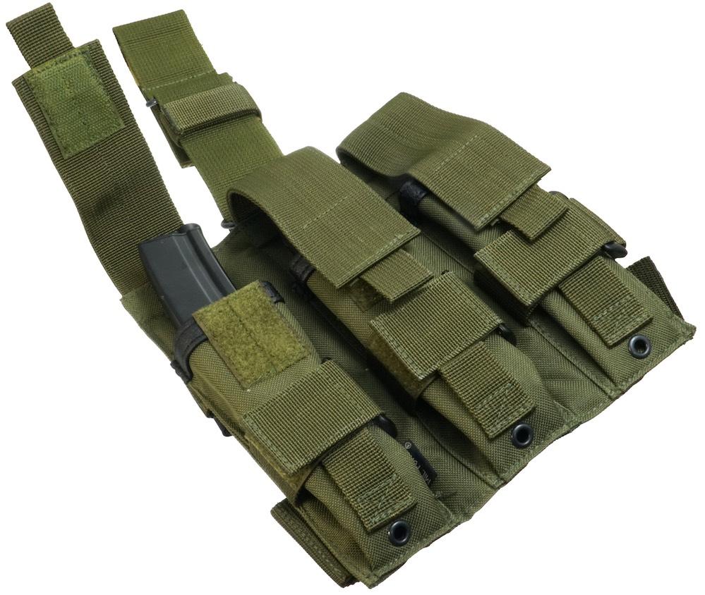 MIL-FORCE ミルフォース 3連 レッグマガジンポーチ MP5(オリーブ) SBL-3-OD