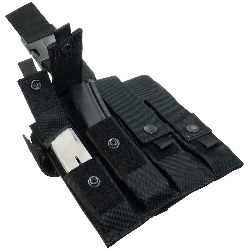 MIL-FORCE ミルフォース 4連 レッグマガジンポーチ MP5(ブラック) SBL-4-BK