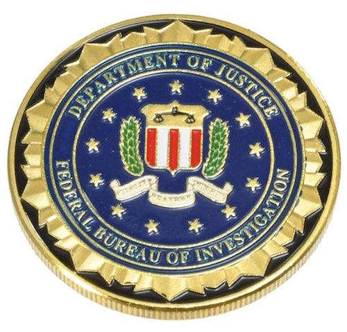 チャレンジコイン FBI ゴールド / 記念メダル