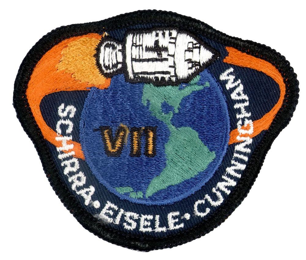 NASA ヴィンテージ刺繍パッチ アポロ7号 ベルクロ付き/ベルクロパッチ