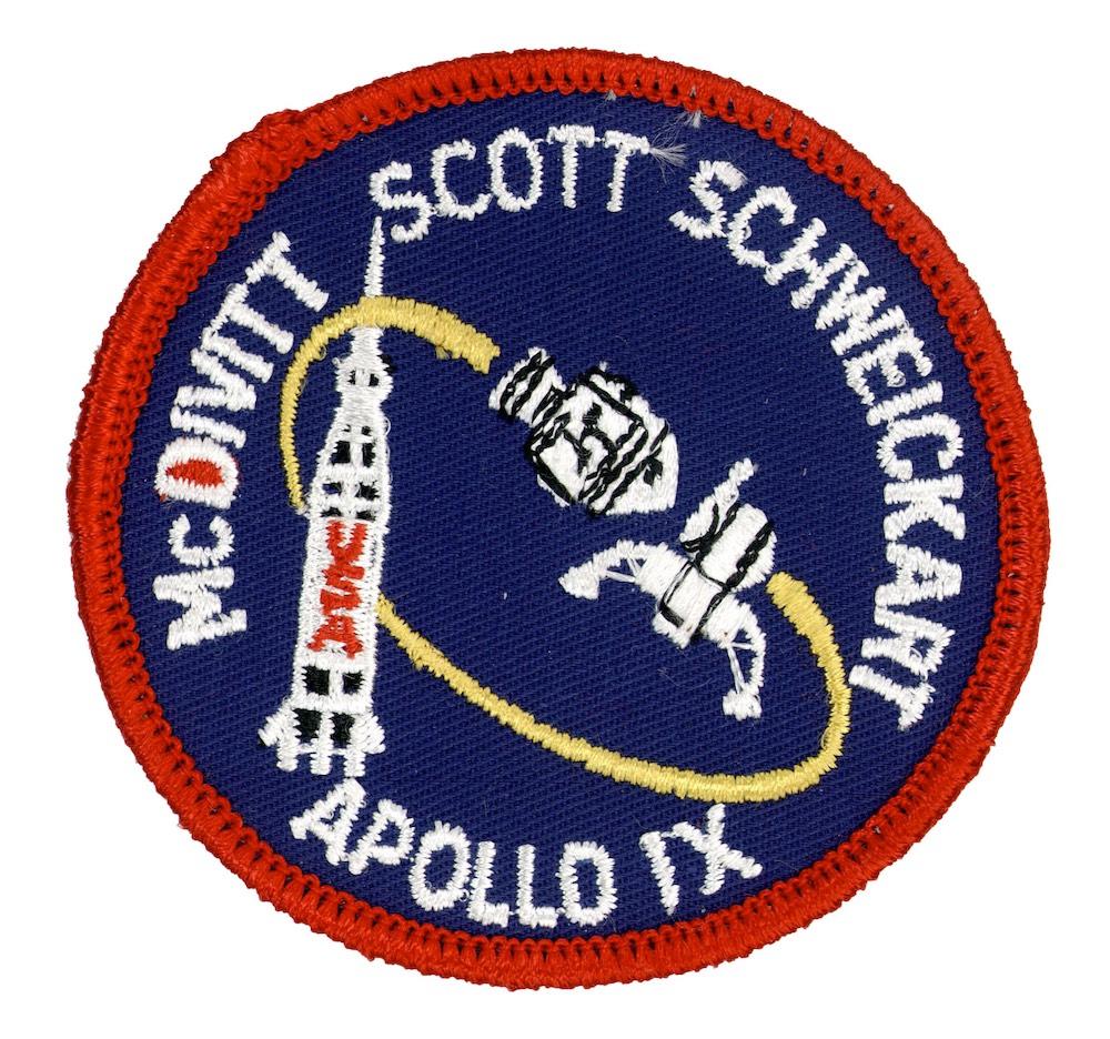 NASA ヴィンテージ刺繍パッチ アポロ9号 ベルクロ付き/ベルクロパッチ