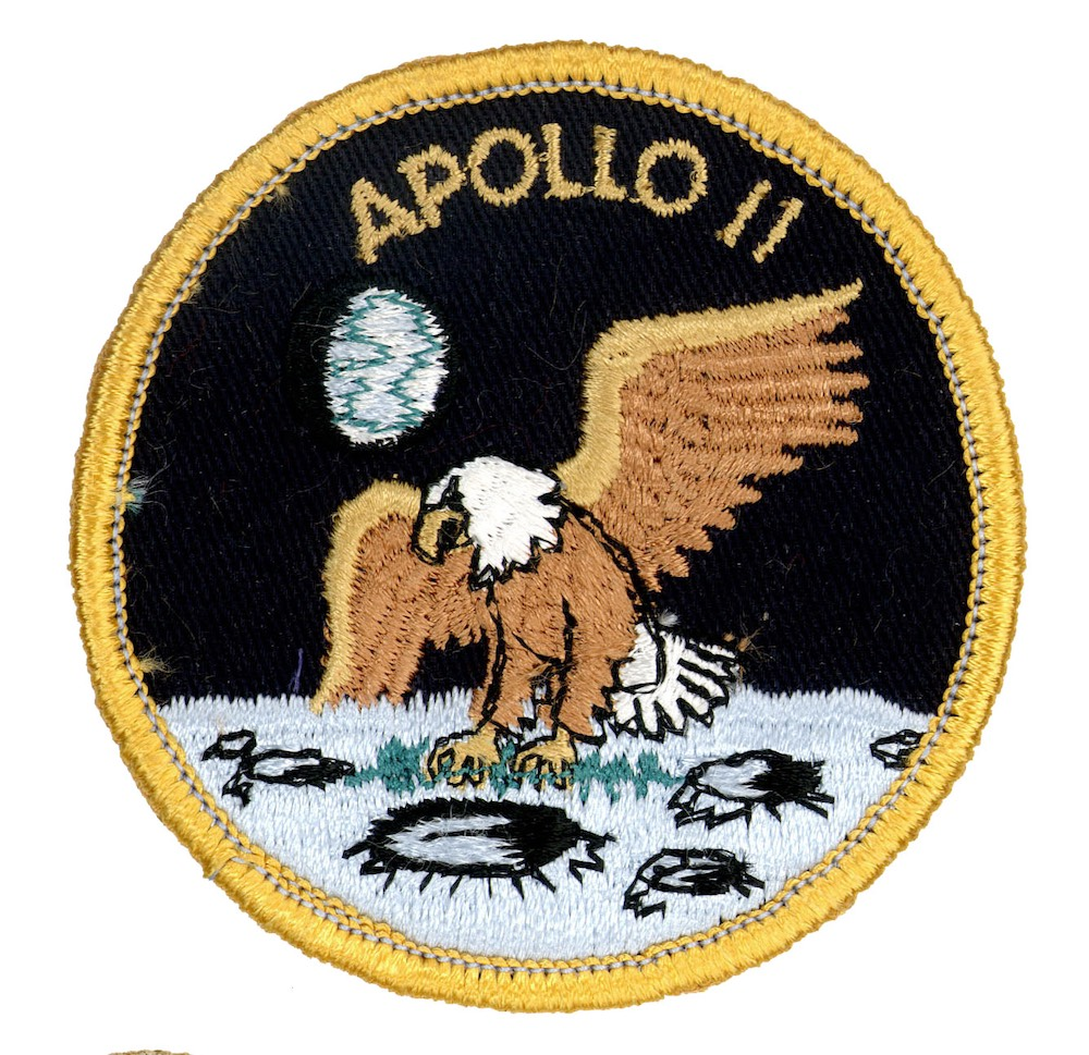 NASA ヴィンテージ刺繍パッチ アポロ11号 ベルクロ付き/ベルクロパッチ