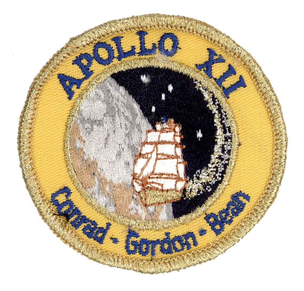 NASA ヴィンテージ刺繍パッチ アポロ12号 ベルクロ付き/ベルクロパッチ