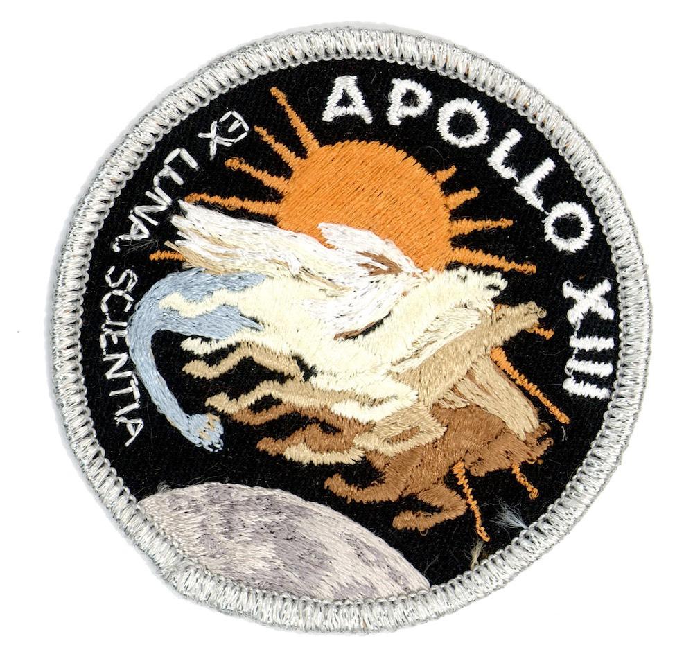 NASA ヴィンテージ刺繍パッチ アポロ13号 ベルクロ付き/ベルクロパッチ