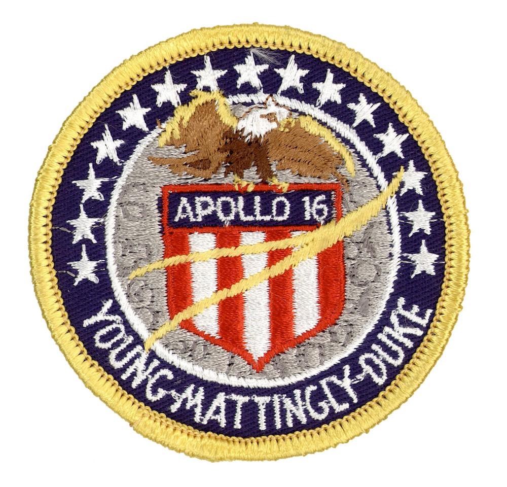 NASA ヴィンテージ刺繍パッチ アポロ16号 ベルクロ付き/ベルクロパッチ