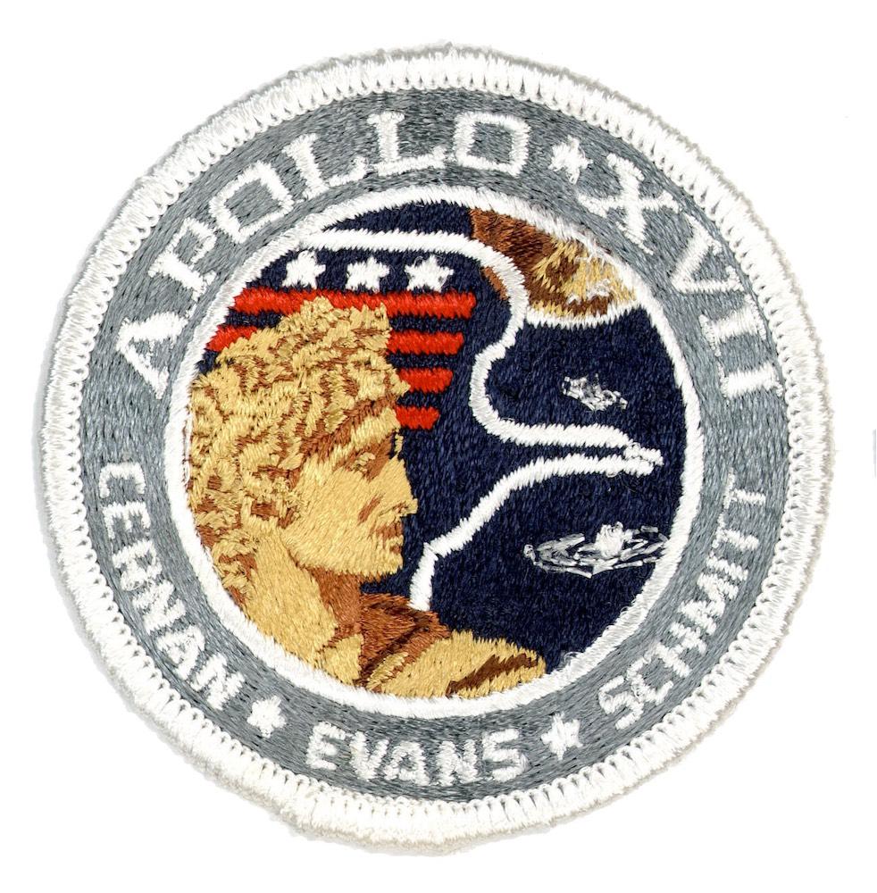 NASA ヴィンテージ刺繍パッチ アポロ17号 ベルクロ付き/ベルクロパッチ