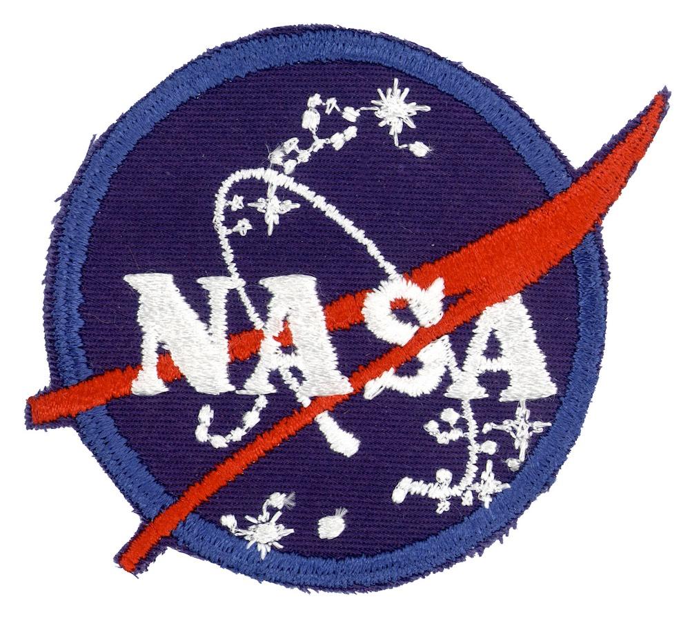 NASA ヴィンテージ刺繍パッチ NASAエンブレム ベルクロ付き/ベルクロパッチ
